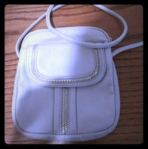 B. Makowsky White & Gold Bag
